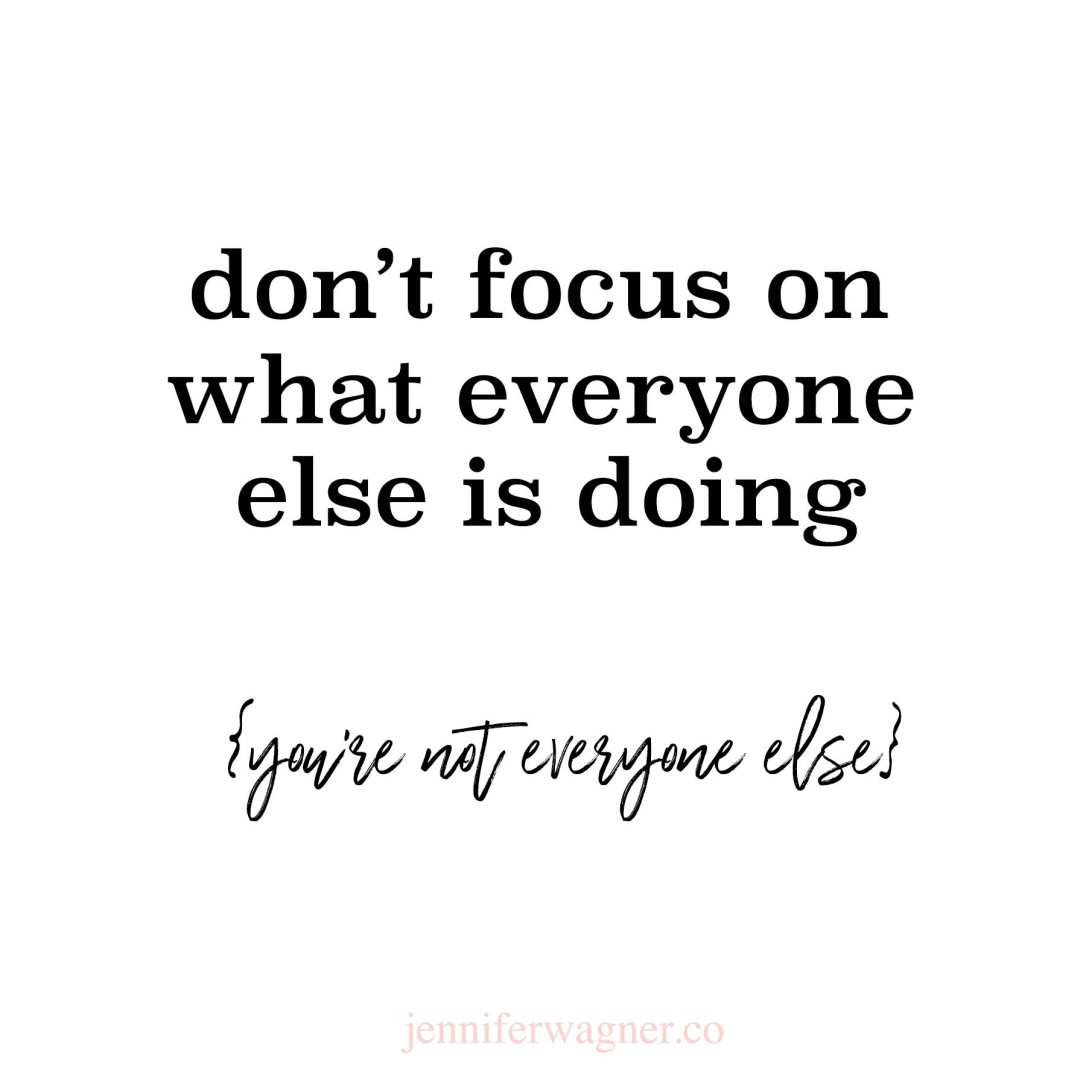 dont focus on