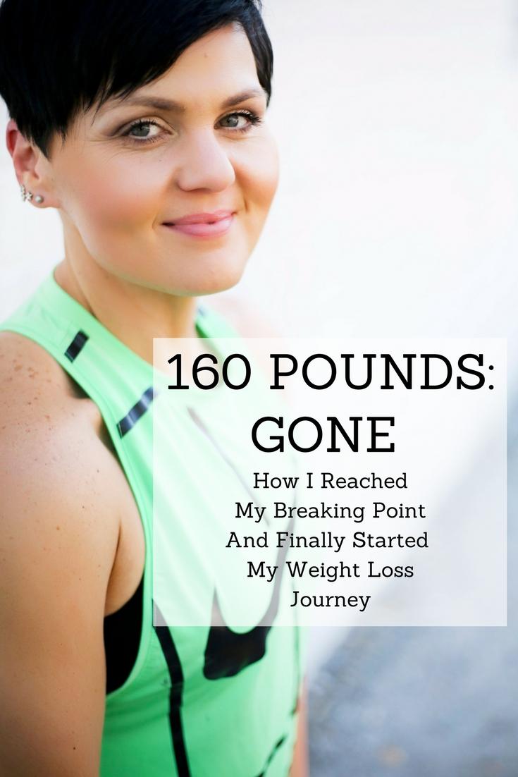 160 pounds_ GONE.